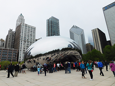 Cloud Gate at Millenium Park in Chicago