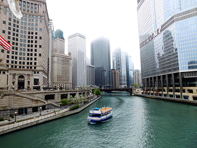 Cruise on the Chicago river