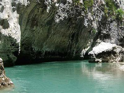 Gorges Verdon dans les Alpes française
