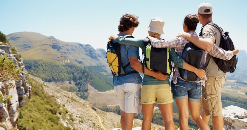 Group of backpackers
