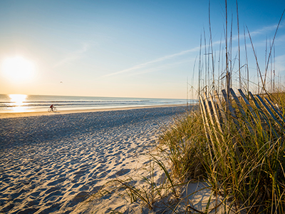Sunrise beach at Jacksonville in Florida